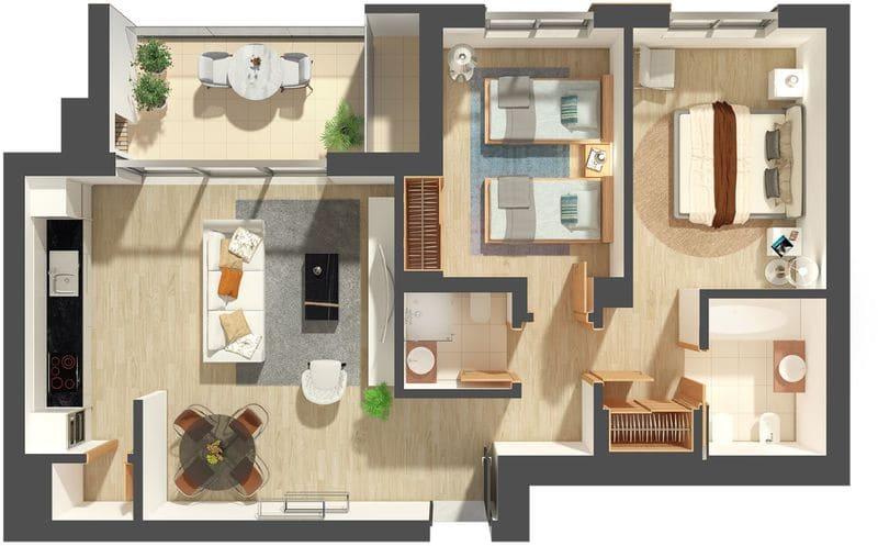 2 Bedrooms Apartment in Urb. Nossa Senhora da Gloria